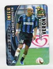 figurina PANINI CALCIO CARDS GAME 2005-06 N. 57 INTER VERON