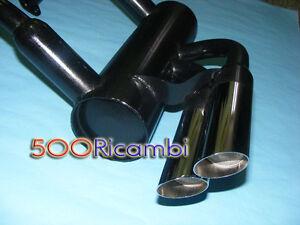 FIAT-500-F-L-MARMITTA-SPORTIVA-DOPPIO-2-SCARICO-CROMATO-DA-60mm-TIPO-ABARTH