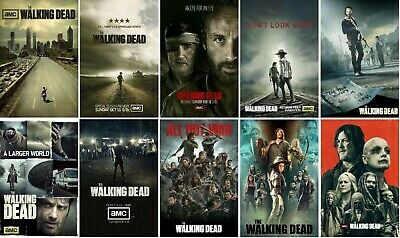 13x19 NEW The Walking Dead Poster Collection Set Season 1 2 3 4 5 6 7 8 9 10