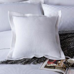 New Premium Cotton Plain White Euro Pillowcase Cushion cover Standard Pillowslip