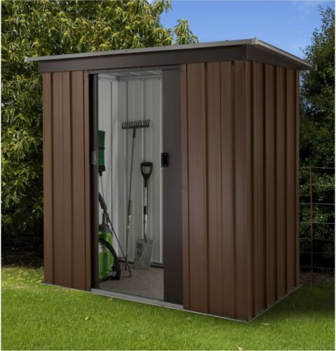 tall woodgrain pent metal shed 6ft x 4ft ebay - Garden Sheds 6ft By 4ft