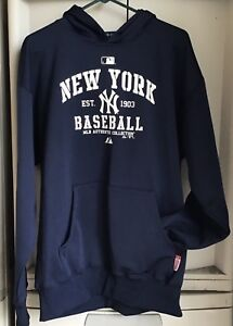 pretty nice ebc6f b16cc Men's Majestic NEW YORK YANKEES MLB Baseball Hoodie ...