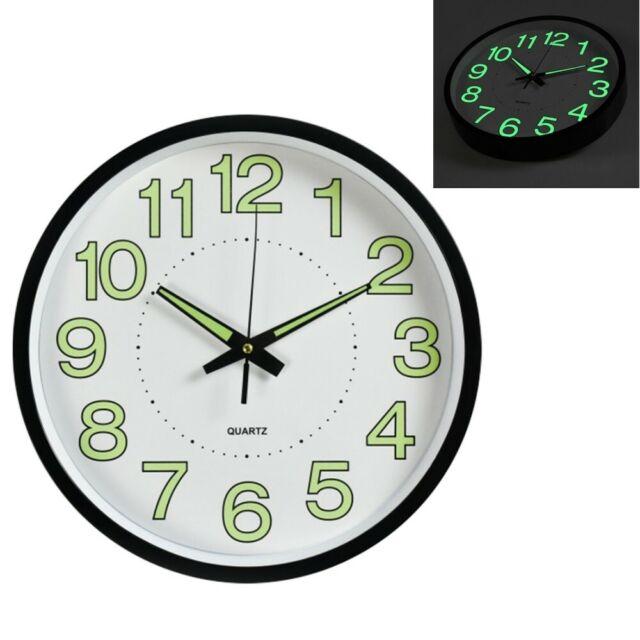 12 Modern Luminous Large Quartz Wall Clock Glow In The Dark Bedroom Office For Sale Online