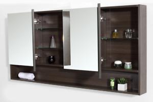 big sale 351fb b607a Details about Bathroom Mirror 1500mm Shaving Cabinet #V15Ash Grey