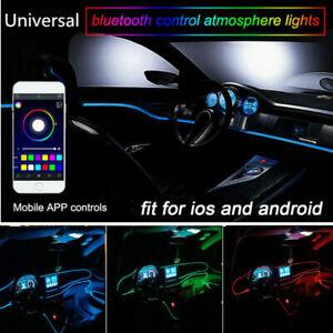 Car Styling RGB LED Neon EL Strip Light Interior Ambient Lamp 6M APP Control EW