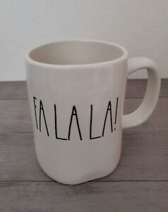 NEW RAE DUNN by Magenta FA LA LA Coffee Tea Mug Farmhouse Christmas Home Decor