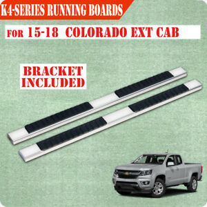 """For 04-12 Colorado//Canyon Crew Cab 4/"""" Nerf Bar Running Board Side Step BLK H"""