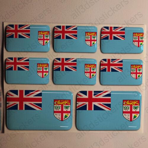 Sticker Fiji Resin Domed Stickers Fiji Flag 3D Vinyl Adhesive Decal Car