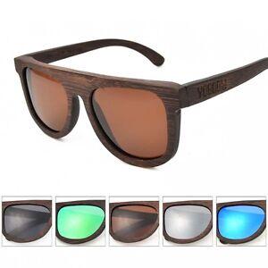 5311773cb74 Image is loading VOBOOM-Men-100-Natural-Bamboo-Wood-Sunglasses-Mirrored-