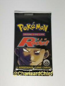 Factory Sealed!!..One Pack Pokemon 1st Edition Team Rocket Booster Pack