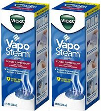 Vicks Vapo Steam for Hot Steam Humidifier Cough Suppressant 8oz