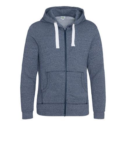 AWDis Space Blend Men/'s Heavyweight Zoodie Full ZIP HOODIE Jacket Grey or Navy