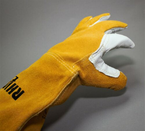 10 Kombi Schweißerhandschuhe MAG Hitzeschutzhandschuhe Lederhandschuhe Gr
