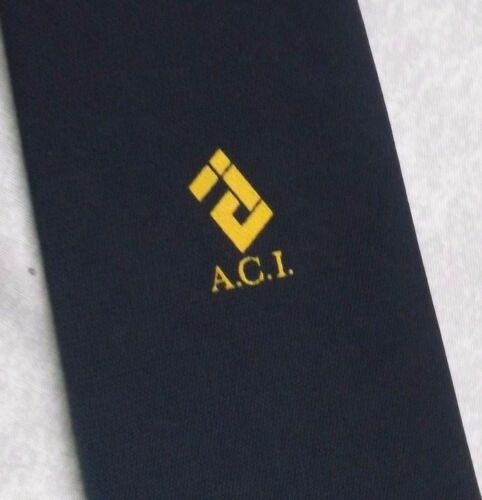 Aci club association logo cravate vintage 1970s 1980s marine a.i.c. homme cravate rétro afficher le titre d'origine