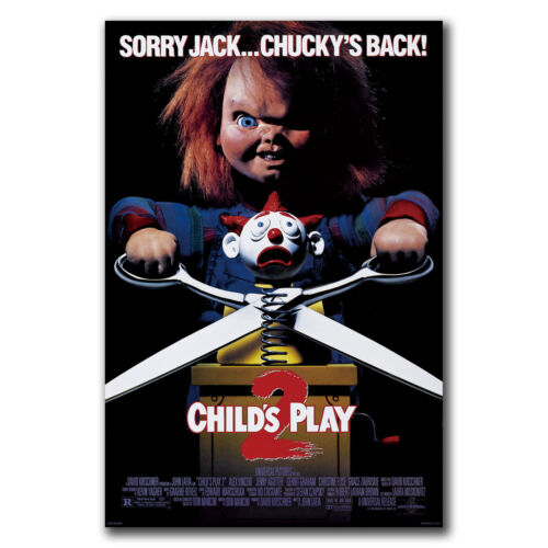 24x36 40inch E2862 Art CHILDS PLAY 2 Movie Horror Chucky Poster Hot Gift