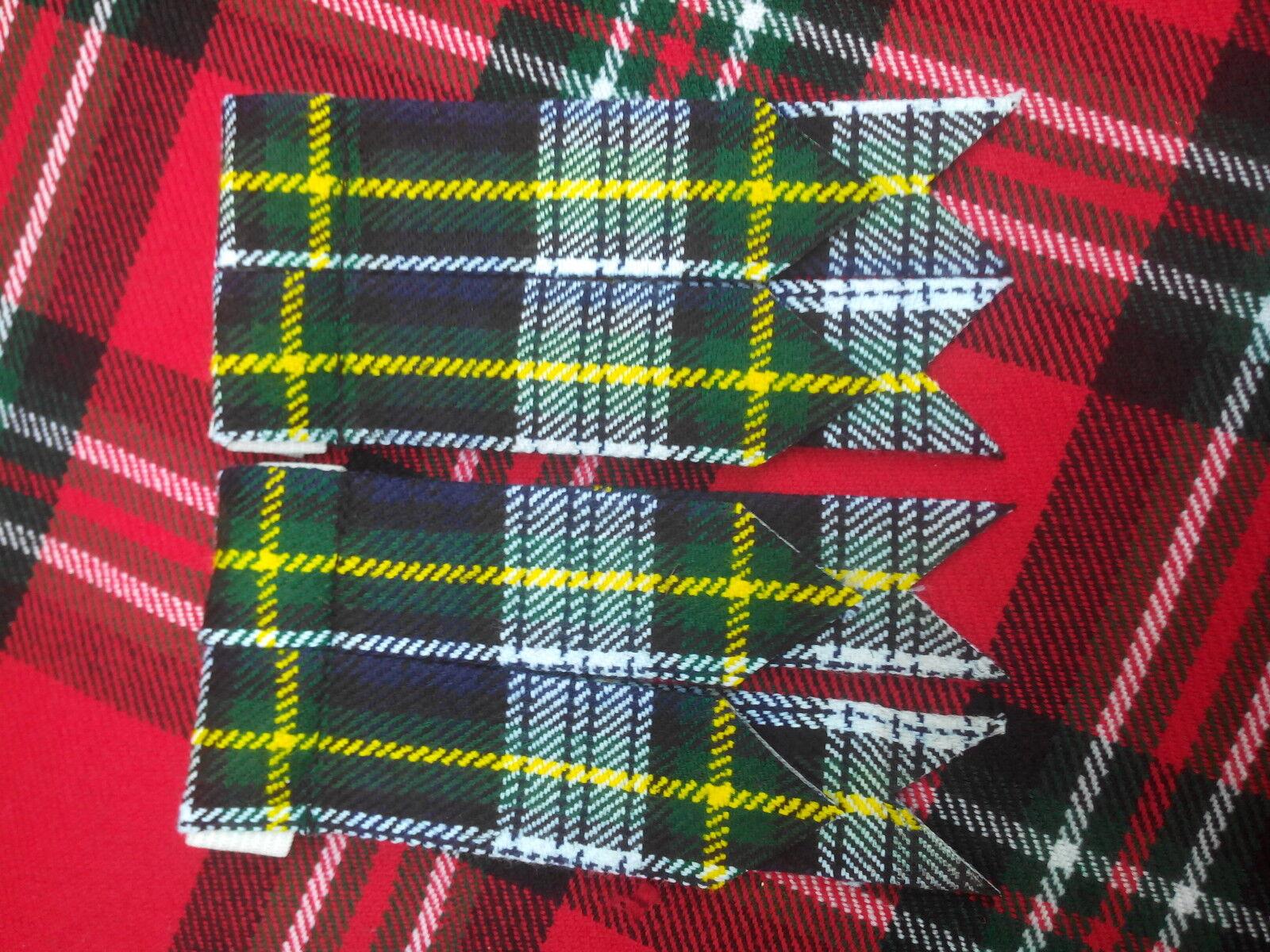 New Scottish Highland Tartan Dress Gordon Kilt Flashes/Kilt Flashes Dress Gordon