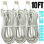 miniature 1 - 10FT Braided Micro USB Charger Cable Data Sync Charger Cord Android Samsung LG