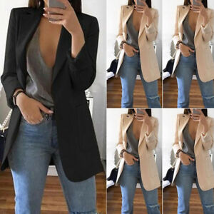 Plus-Size-Women-Fashion-OL-Long-Sleeve-Slim-Fit-Blazer-Suit-Jacket-Coat-Outwear