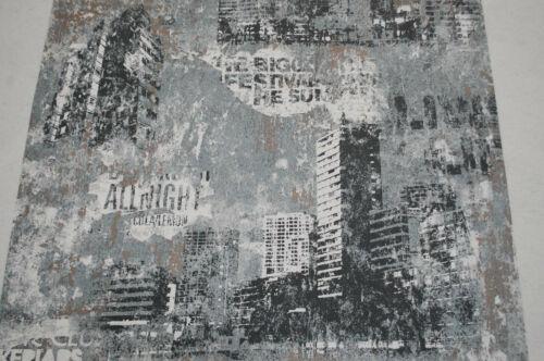 Vliestapete 821215 Rasch Tapete Vintage Häuser Schrift grau weiß