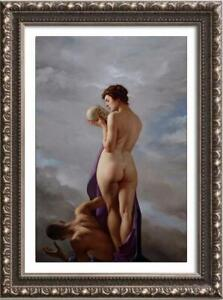 """Original Oil Painting female art male nude and nude girl on canvas 24""""x36"""""""