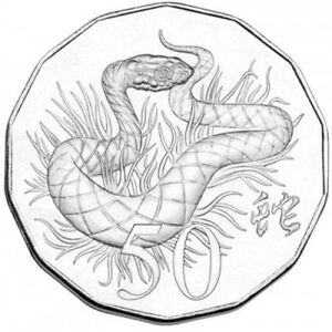 2013-YEAR-OF-THE-SNAKE-50C-UNC-TETRA-DECAGON-in-Card-Folder