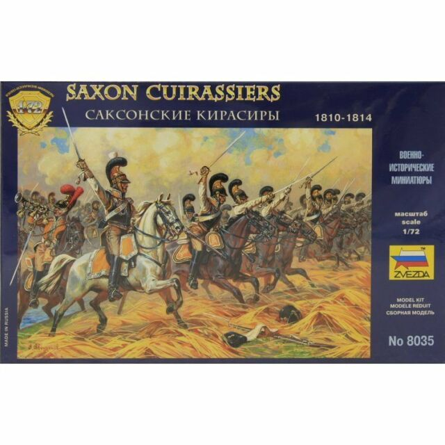 Zvezda 8035 Saxon Cuirassiers 1810-1814 1/72 scale plastic model figures