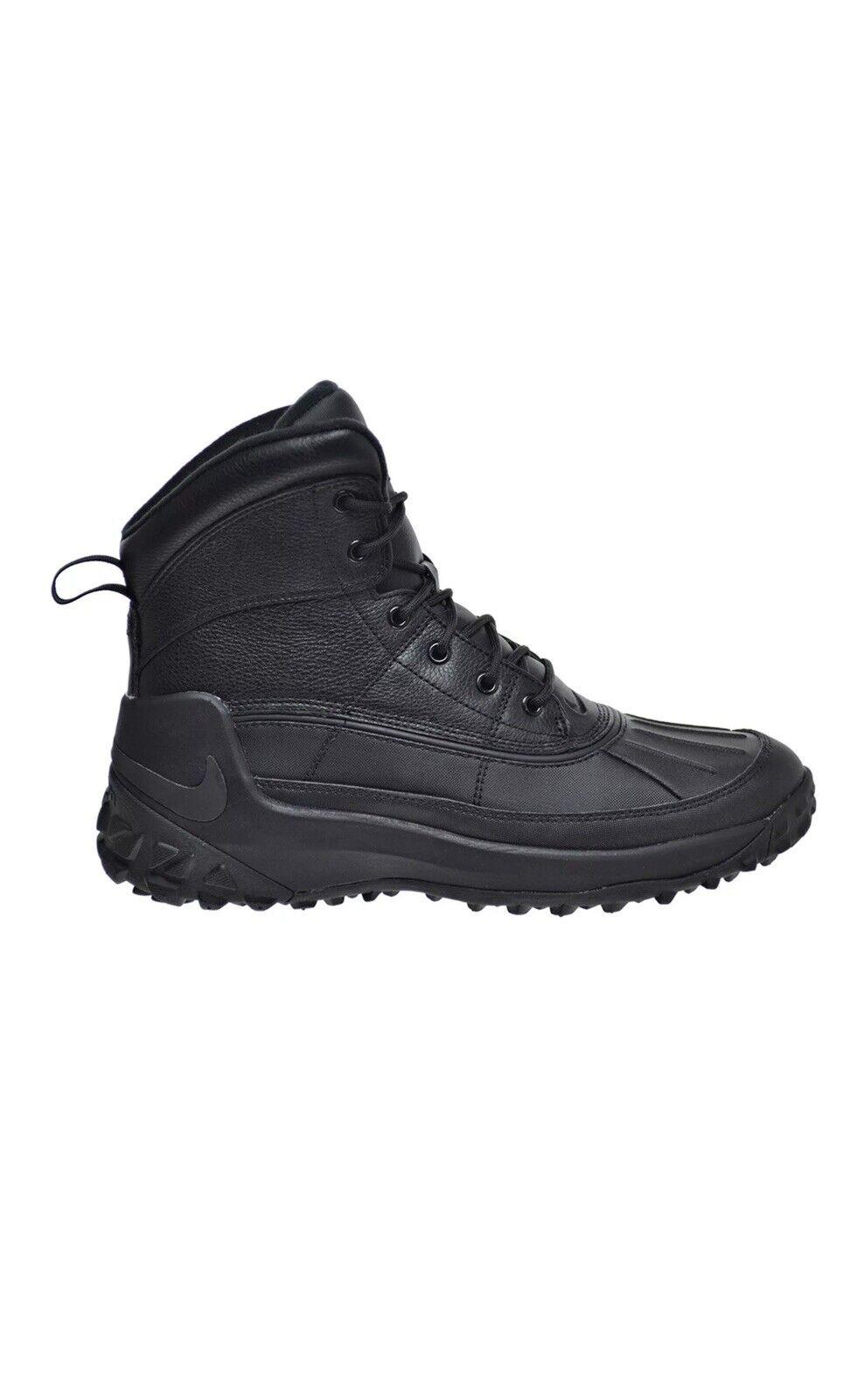Men's Nike Kynwood Triple Black Leather Waterproof Duck Boots 862504-001 SZ 11.5