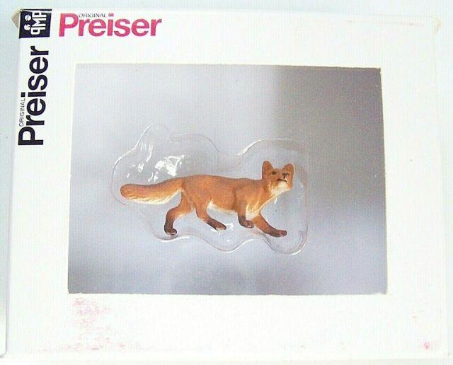 Preiser G 1:25 Scale 47714 HUNTING FOX Animal Figure