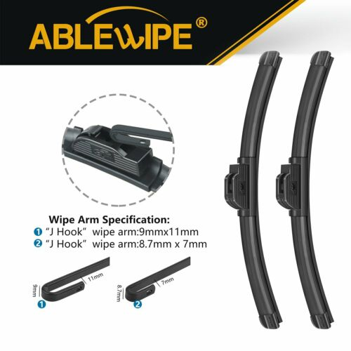 "ABLEWIPE 22/""+22/"" Fit For Chrysler Sebring Sedan Convertible 06-95 Wiper Blades"