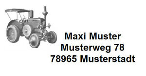 40-Adressetiketten-Traktor-Lanz-Name-Heft-Buch-Aufkleber-selbstklebend-8985