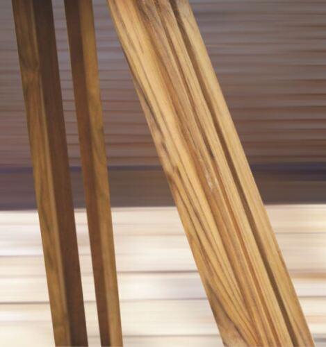 TEAK WOODEN  FLOOR LAMP VINTAGE HOME DECOR NAUTICAL STYLISH RETRO TRIPOD