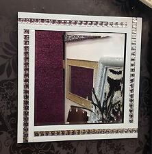 NUOVO Moderno Art deco acrilico cristallo vetro design BISELLATI SPECCHIO 60X60CM BIANCO