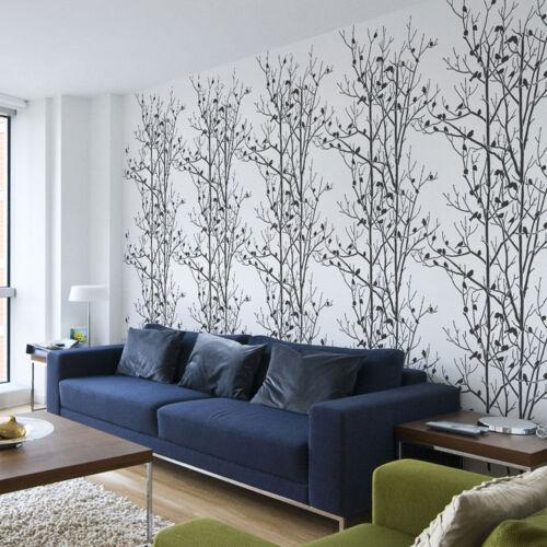 Reusable Wall Stencils for DIY Home Decor! Birds In Trees Allover Wall Stencil