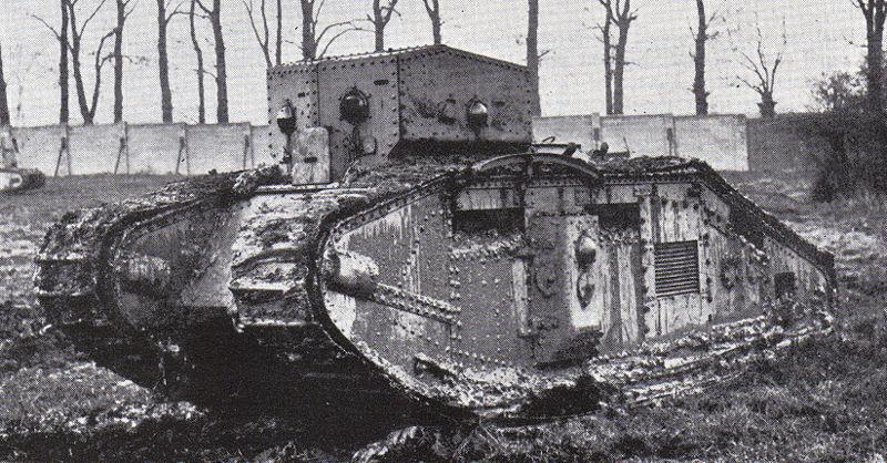 1   35 Comandante de la primera guerra mundial Mark B, cubierta de grasa de tanque mediano.