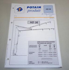 Product Data Sheet Potain Crane HD 36