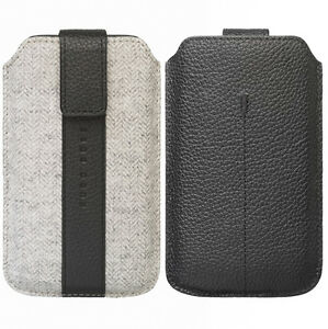 buy online bd214 dd6ca Details about Hugo Boss Alness XL Slip Case Pouch Black Grey 132 x 81mm For  iPhone 5S/SE