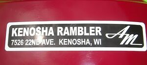 AMC-Kenosha-Rambler-dealership-emblem-AMX-Javelin-Rambler-Marlin-Rebel-BARGAIN