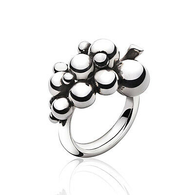 Georg Jensen Silver Ring # 551 A - MOONLIGHT GRAPES