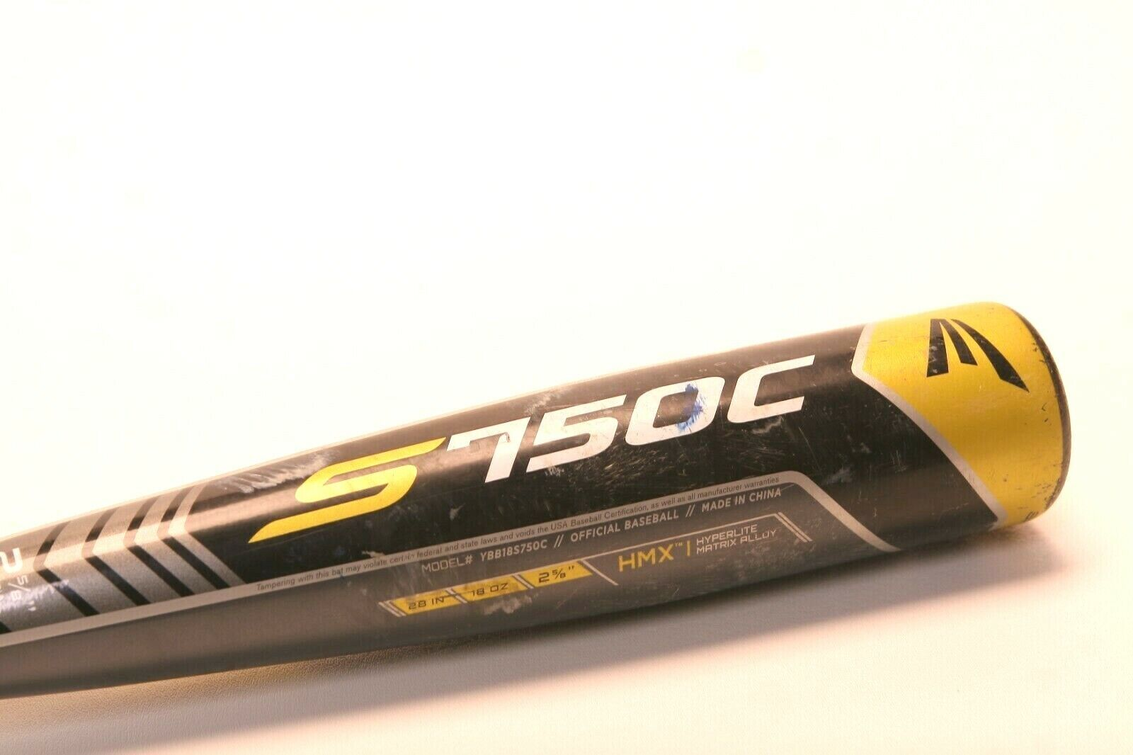 Bate De Béisbol Easton 750C 28  18oz 2 5 8  -10 YBB18S750C BE0A1907 HMX Hyperlite