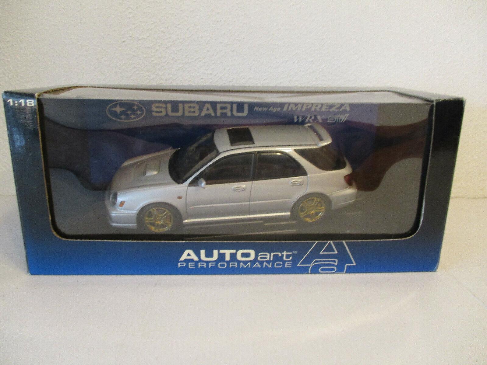 (GOKR) 1 18 bilkonst Subaru New AGE Impreza WRX Wagon STI 2001 NEU OVP