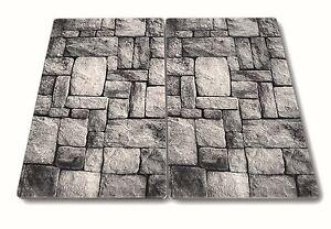 2x glas herd abdeckplatte abdeckung platte f r ceranfeld. Black Bedroom Furniture Sets. Home Design Ideas