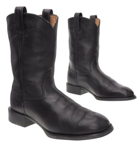 ARIAT Cowboy Boots 9 D Mens Black Leather Western