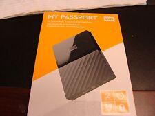 WESTERN DIGITAL MY PASSPORT 2TB WDBYFT0020BBK-WESN NEW NO RESERVE!!!!