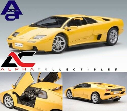 AUTOART 74526 1:18 LAMBORGHINI DIABLO 6.0 giallo giallo giallo SUPERCAR c1ca72