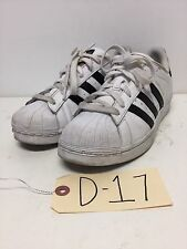 D17 Adidas Superstar White / Black Leather Sneakers Womens Size 6