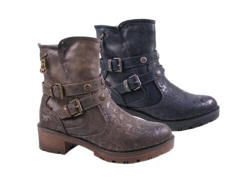 Mustang 1284-606 zapatos señora botines tobillo