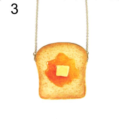 QA/_ Creative Toast Bread Shape Women Small Crossbody Shoulder Bag with Chain S