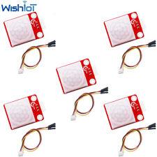 5pcs Pir Motion Body Human Sensor Mini Ir Infrared Pyroelectric Detector Module
