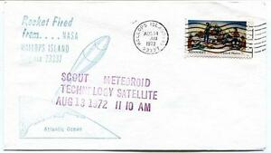 1972 Wallops Island Rocket Fired Scout Meteoroid Tech Sat Wff Goddard Base Nasa Beau Lustre