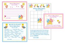 Care Bears Baby Shower Game Package #1